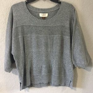 Sonoma Gray Knit Short Sleeve Sweater Size Small
